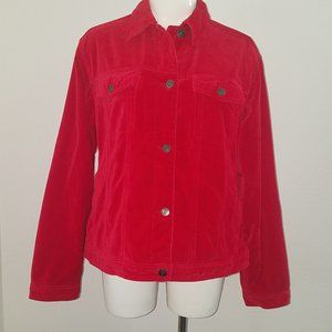 The Territory Ahead Red Jacket Size Large Velvet